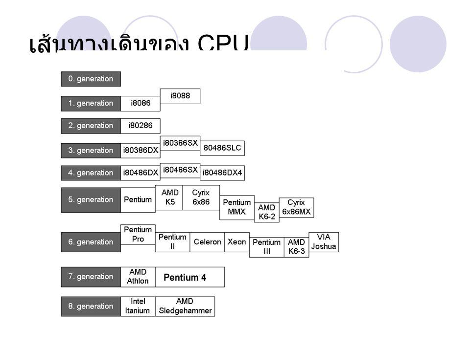 เส้นทางเดินของ CPU