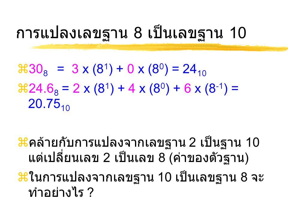 การแปลงเลขฐาน 8 เป็นเลขฐาน 10
