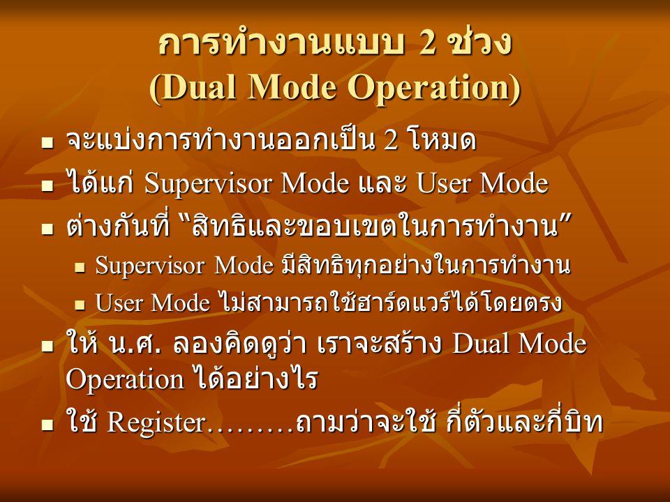 การทำงานแบบ 2 ช่วง (Dual Mode Operation)