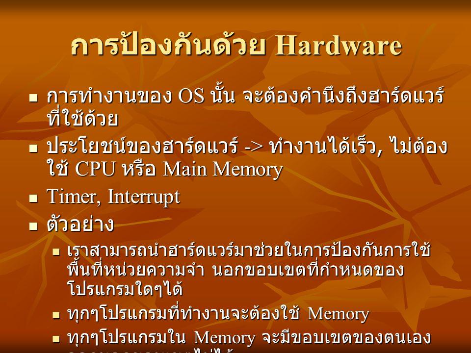 การป้องกันด้วย Hardware