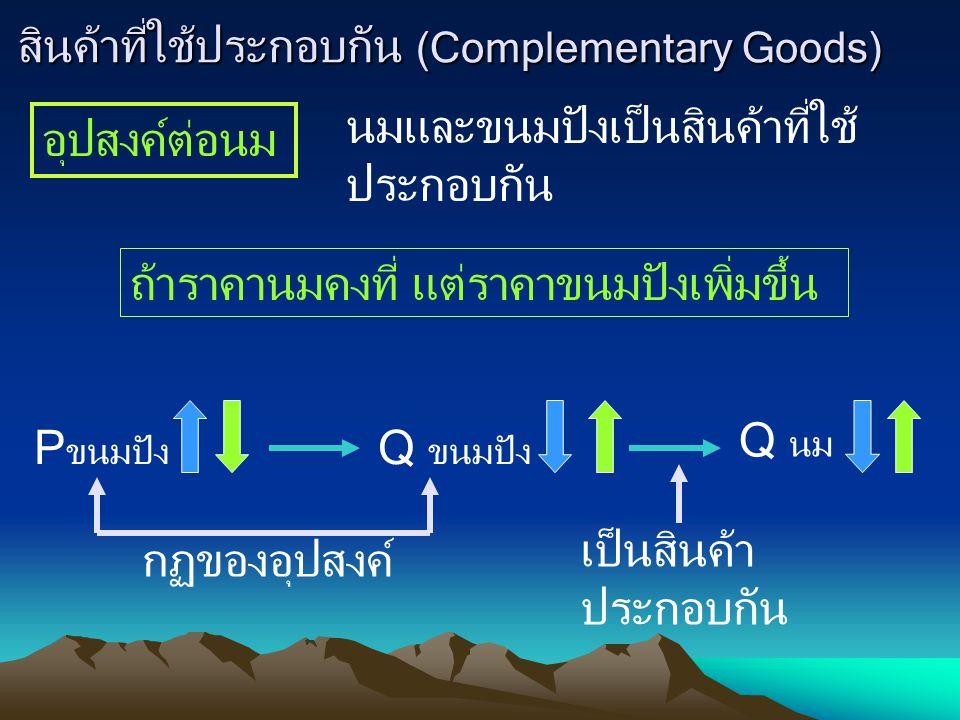 สินค้าที่ใช้ประกอบกัน (Complementary Goods)