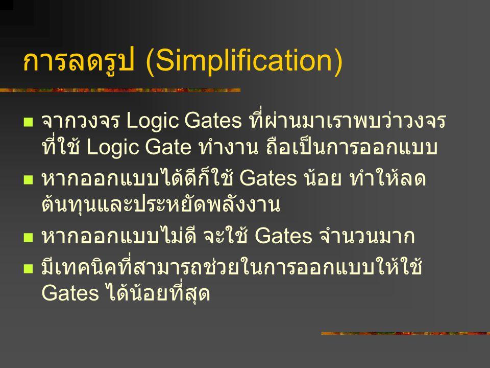 การลดรูป (Simplification)