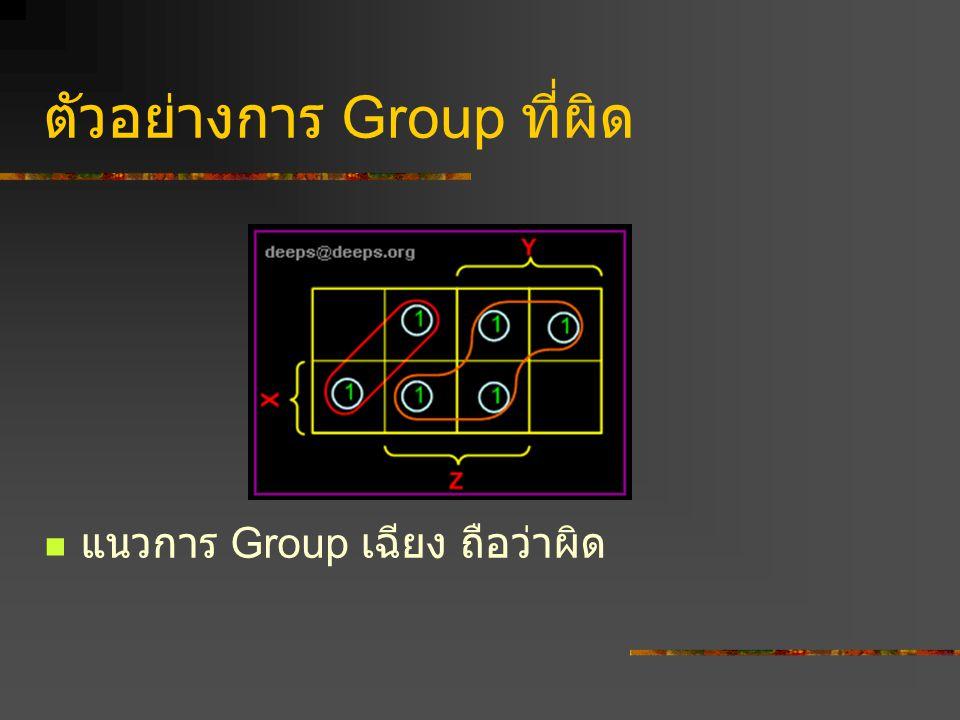 ตัวอย่างการ Group ที่ผิด