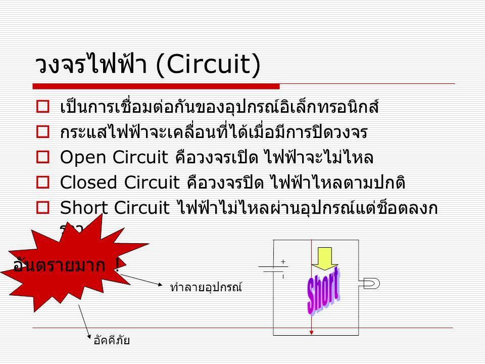 วงจรไฟฟ้า (Circuit) Short อันตรายมาก !