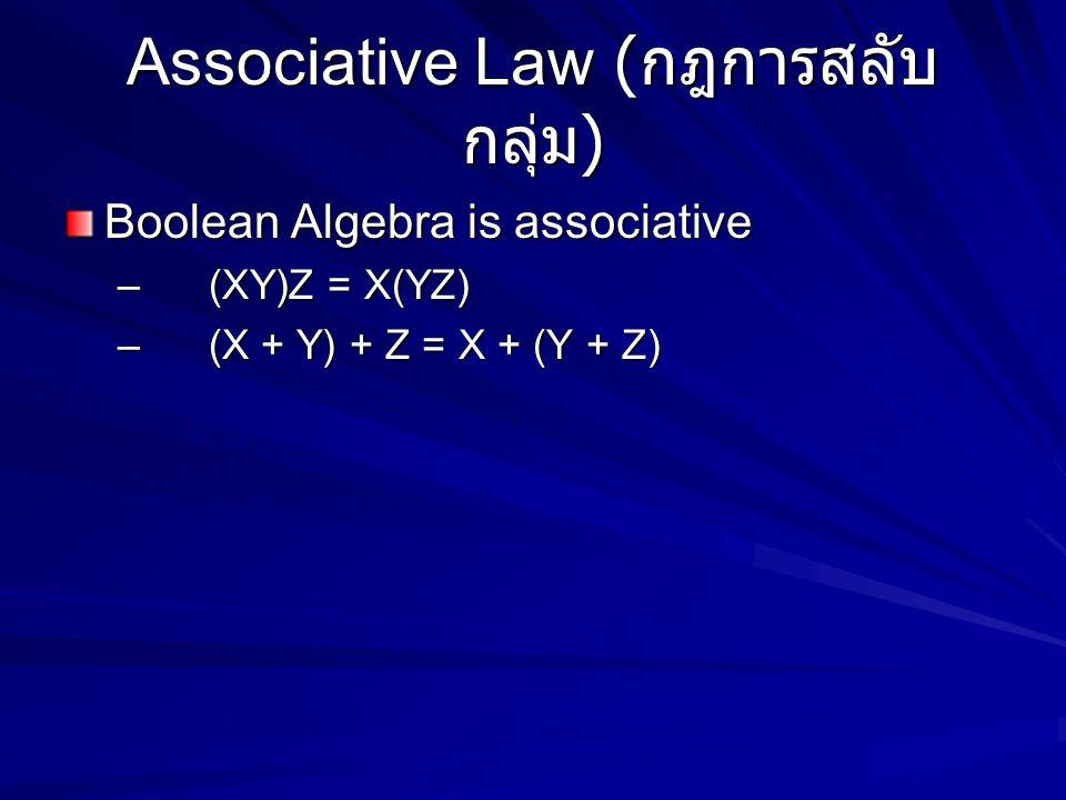 Associative Law (กฎการสลับกลุ่ม)
