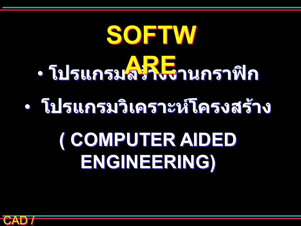 SOFTWARE โปรแกรมสร้างงานกราฟิก โปรแกรมวิเคราะห์โครงสร้าง