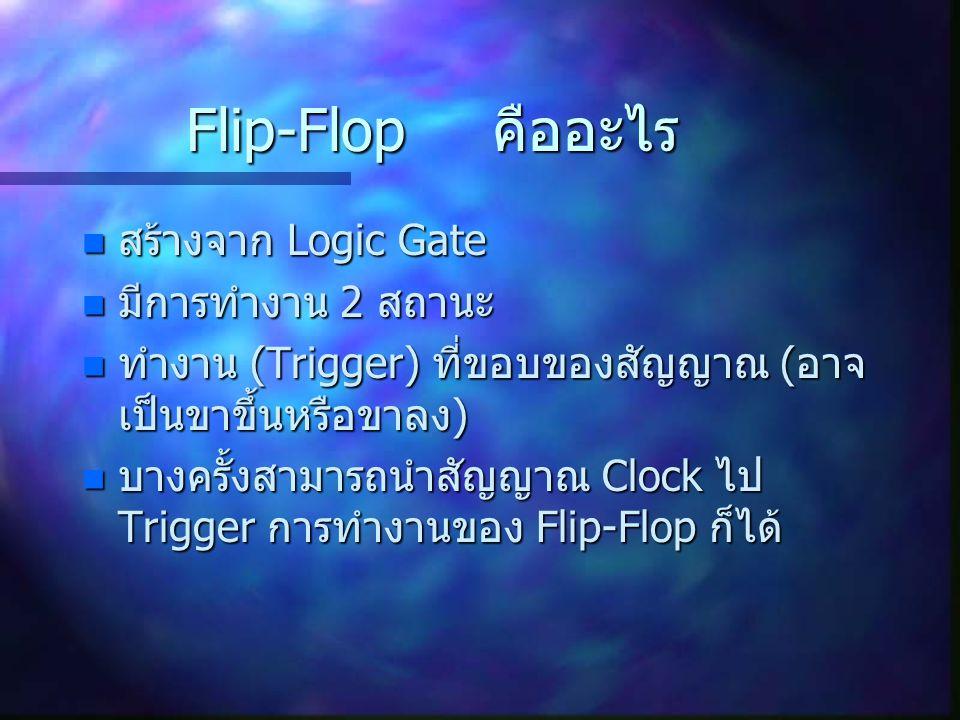 Flip-Flop คืออะไร สร้างจาก Logic Gate มีการทำงาน 2 สถานะ