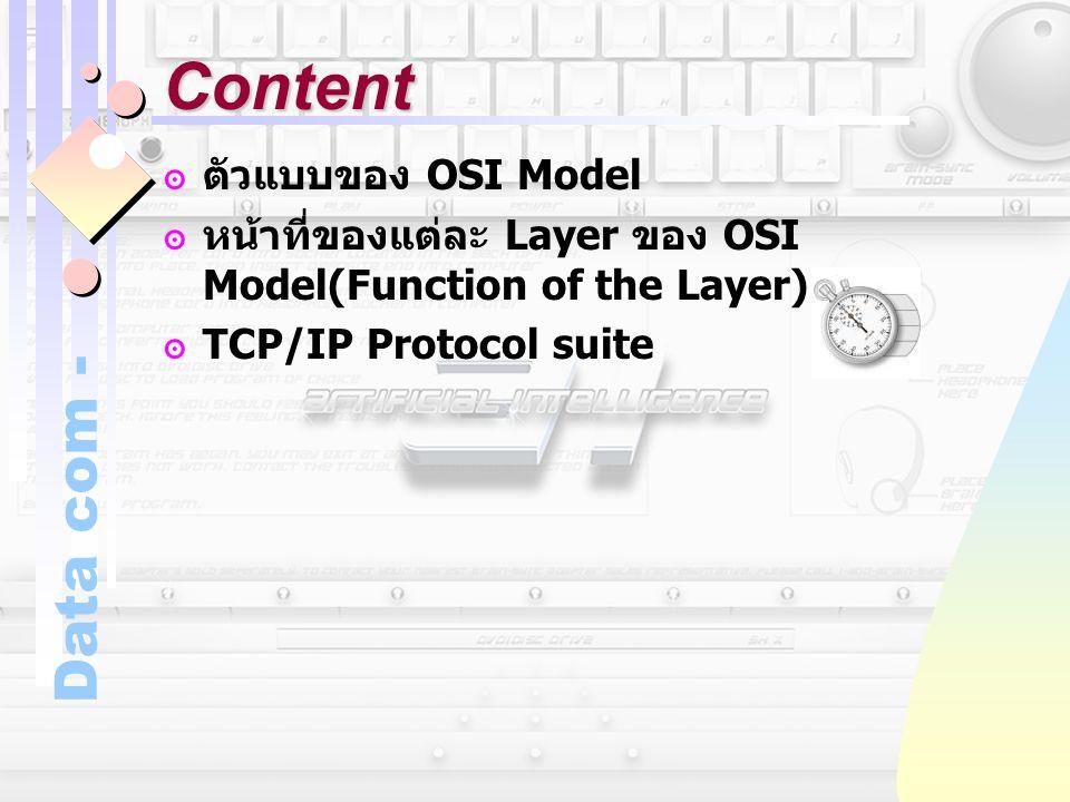 Content ตัวแบบของ OSI Model