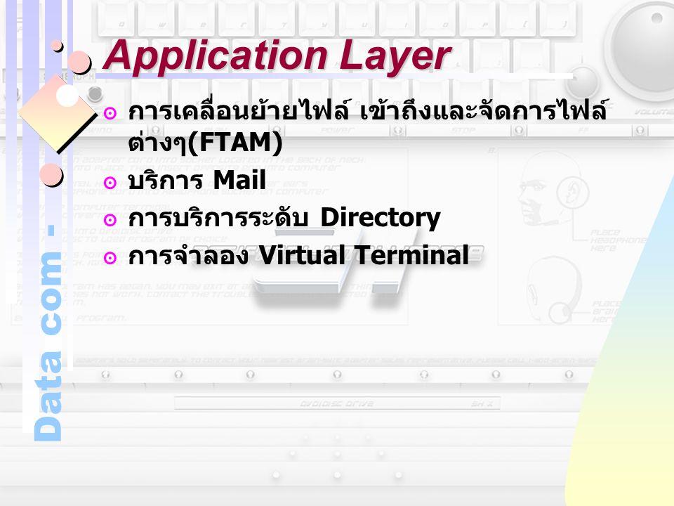 Application Layer การเคลื่อนย้ายไฟล์ เข้าถึงและจัดการไฟล์ต่างๆ(FTAM)