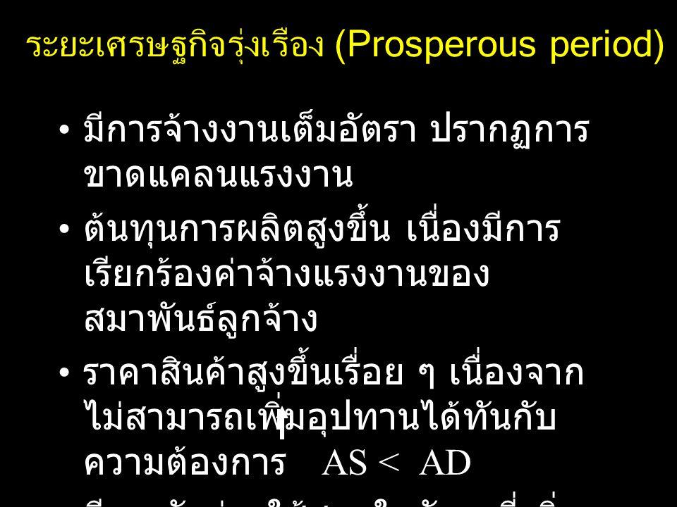 ระยะเศรษฐกิจรุ่งเรือง (Prosperous period)