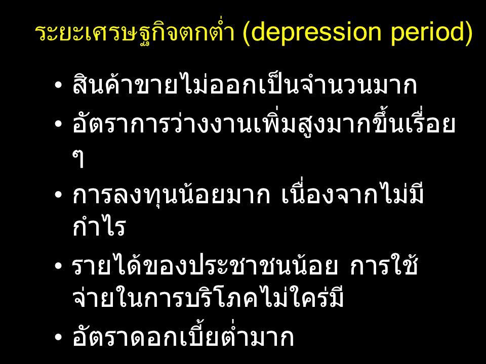 ระยะเศรษฐกิจตกต่ำ (depression period)