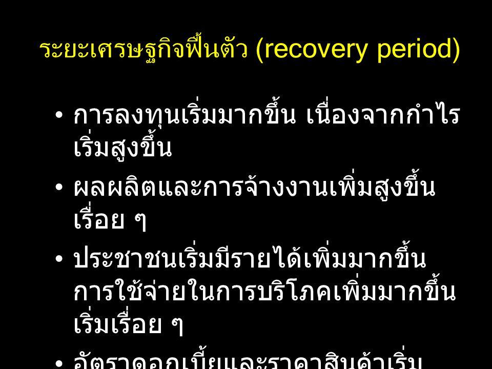ระยะเศรษฐกิจฟื้นตัว (recovery period)