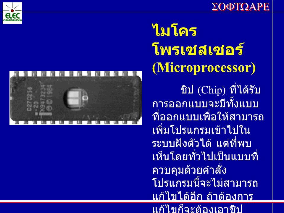 ไมโครโพรเซสเซอร์ (Microprocessor)