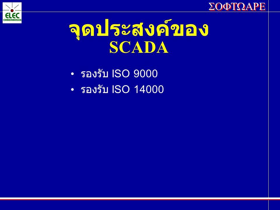 จุดประสงค์ของ SCADA รองรับ ISO 9000 รองรับ ISO 14000