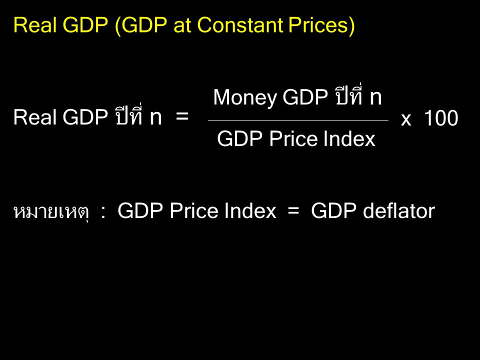 Real GDP (GDP at Constant Prices)