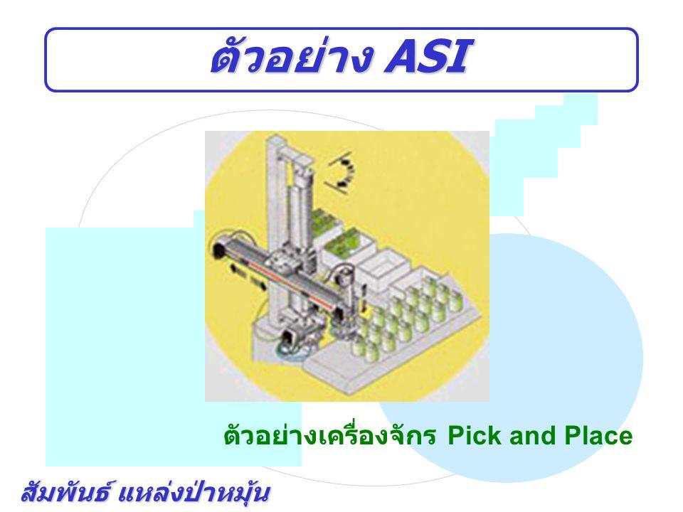 ตัวอย่าง ASI ตัวอย่างเครื่องจักร Pick and Place