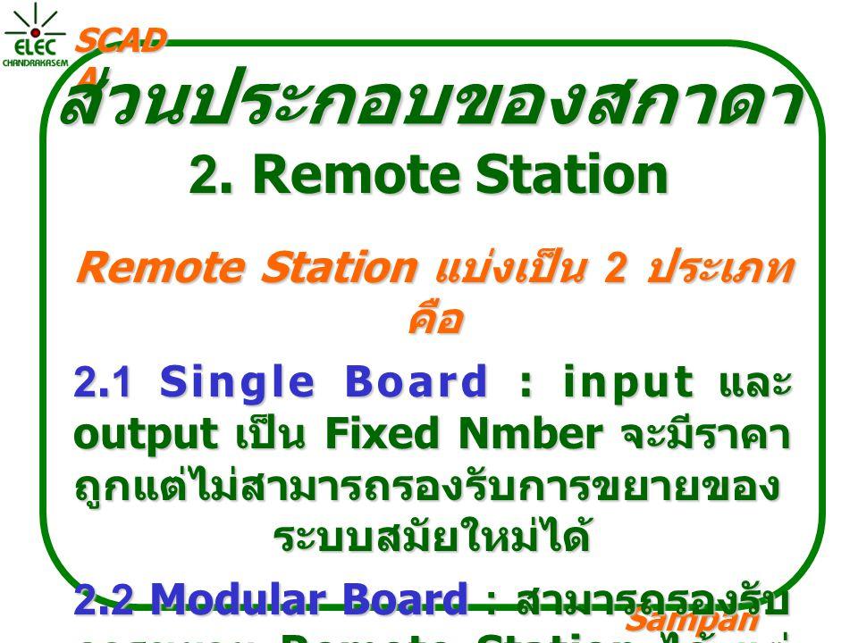 ส่วนประกอบของสกาดา 2. Remote Station