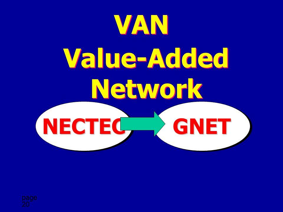 VAN Value-Added Network