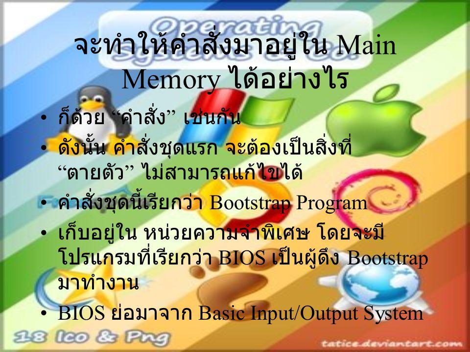 จะทำให้คำสั่งมาอยู่ใน Main Memory ได้อย่างไร