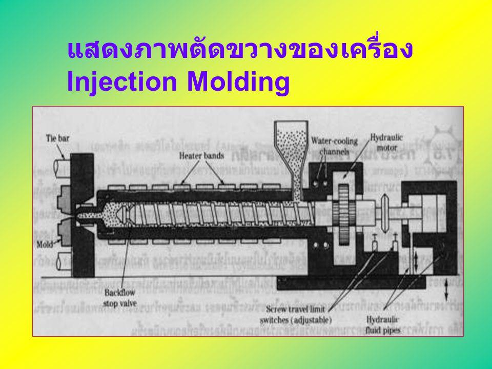แสดงภาพตัดขวางของเครื่อง Injection Molding
