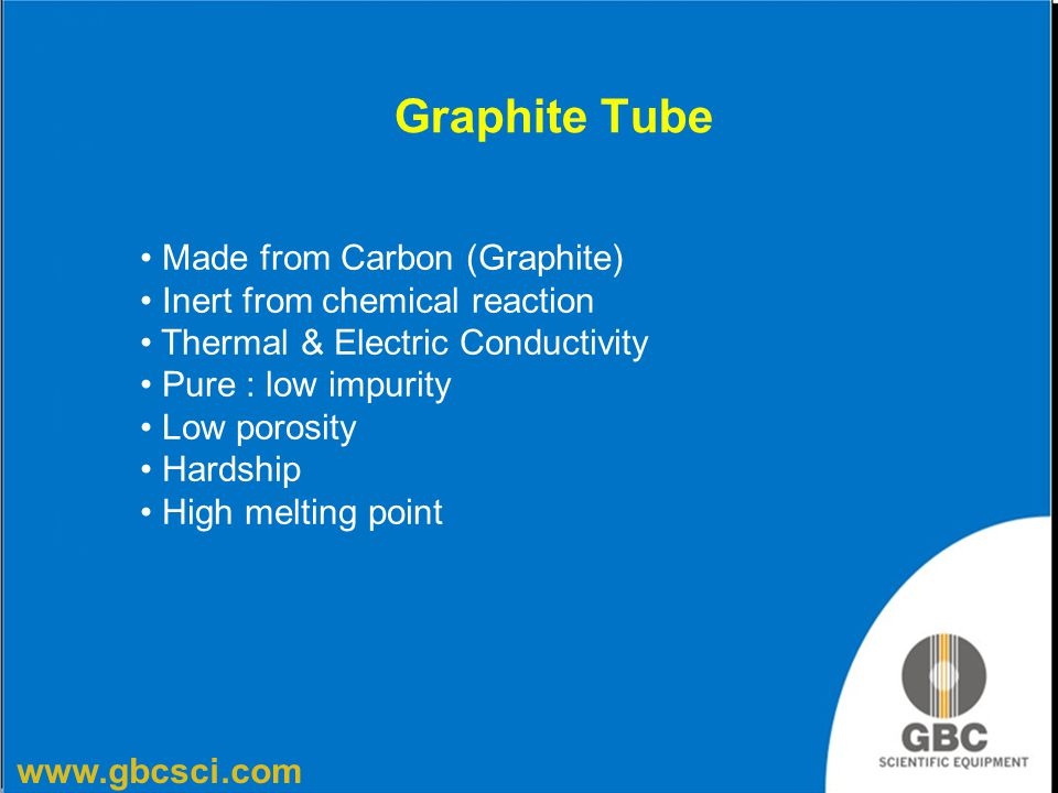 Graphite Tube Made from Carbon (Graphite) Inert from chemical reaction