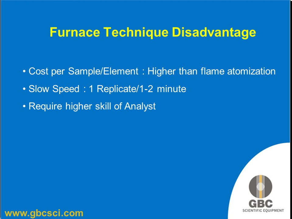 Furnace Technique Disadvantage