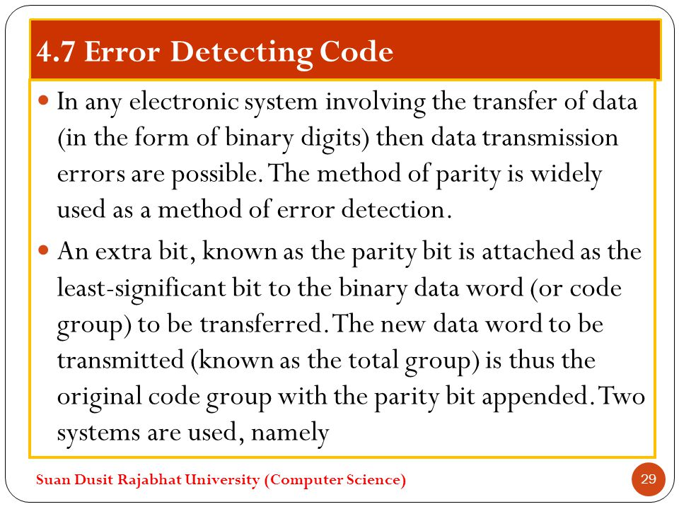 4.7 Error Detecting Code