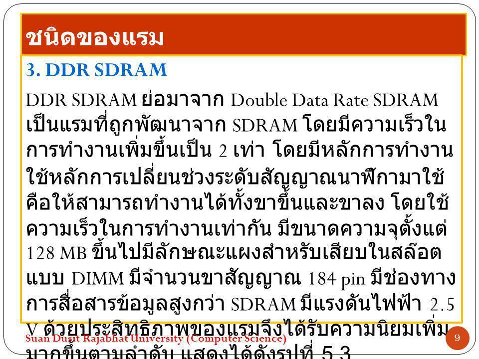 ชนิดของแรม 3. DDR SDRAM.