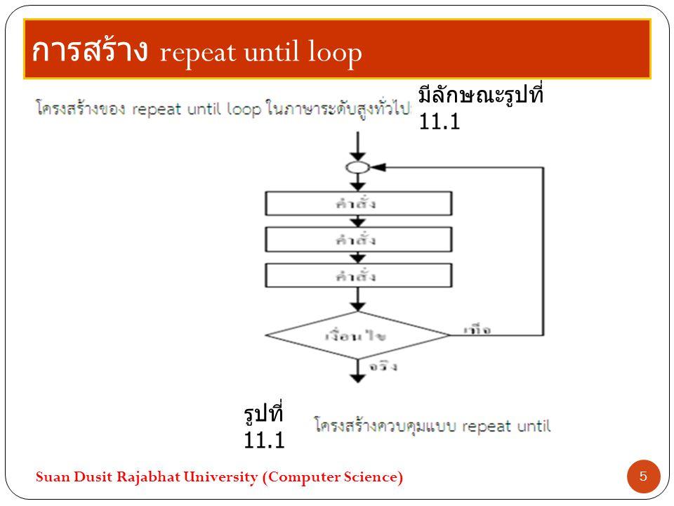 การสร้าง repeat until loop