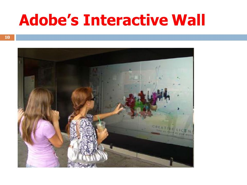 Adobe's Interactive Wall