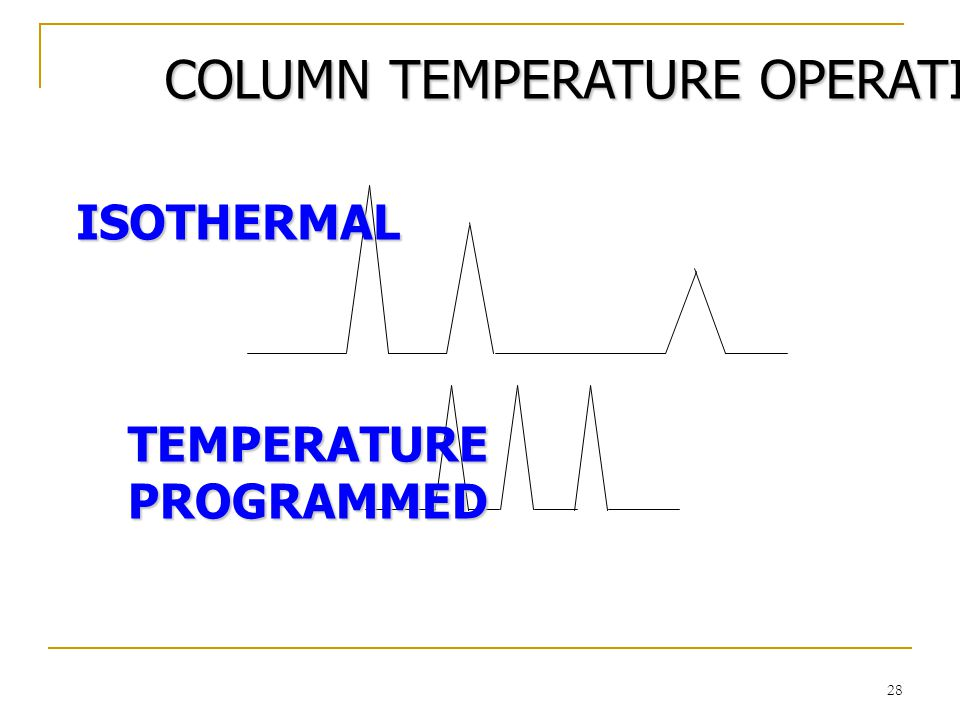 COLUMN TEMPERATURE OPERATION
