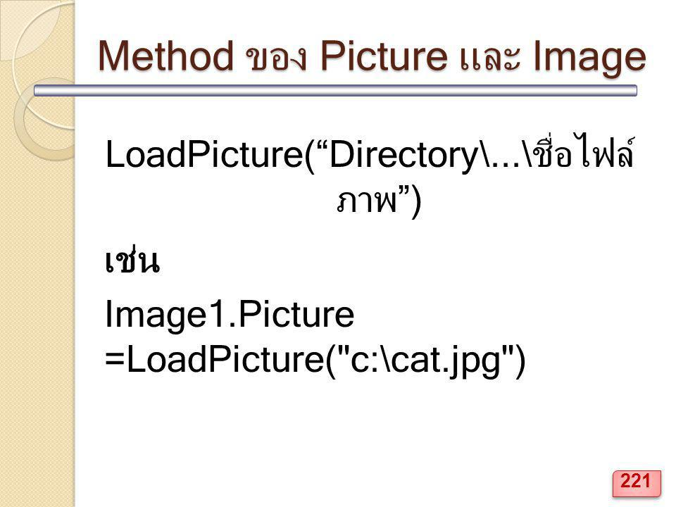 Method ของ Picture และ Image