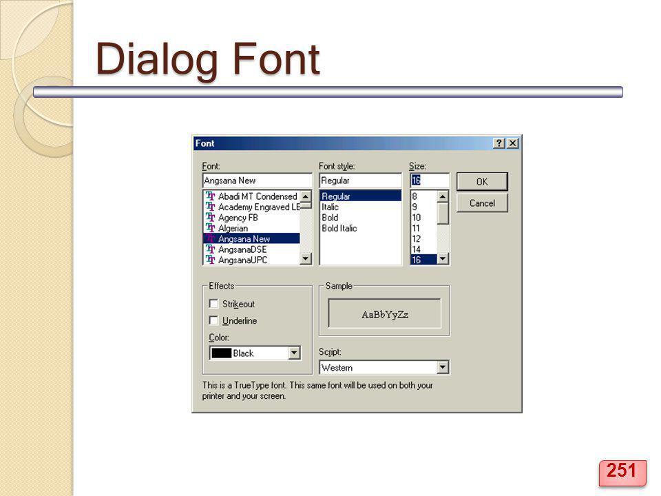 Dialog Font