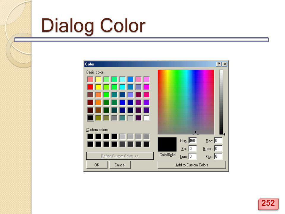 Dialog Color