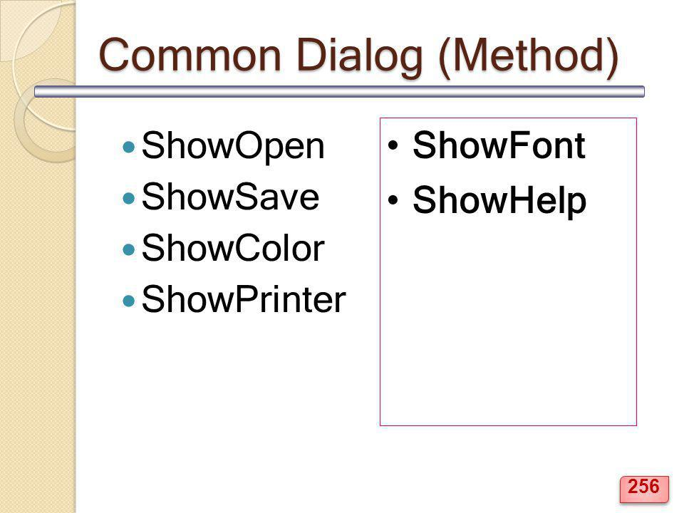 Common Dialog (Method)