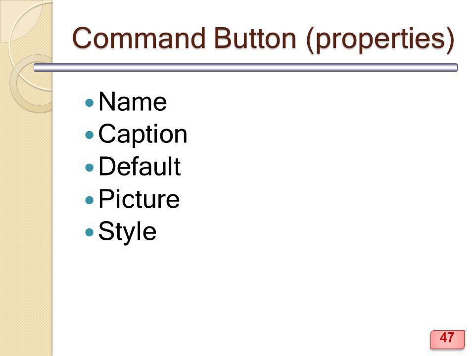 Command Button (properties)