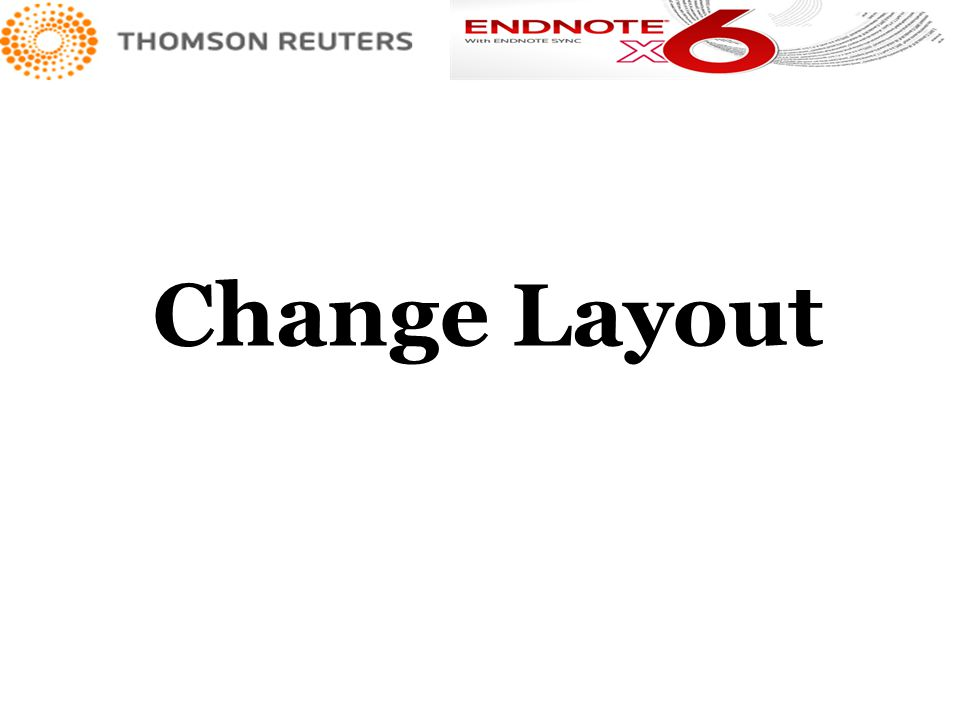Change Layout