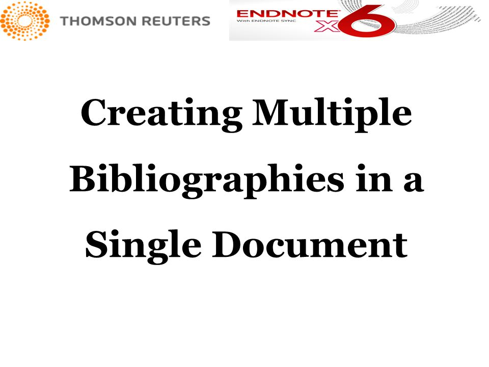 Creating Multiple Bibliographies in a Single Document