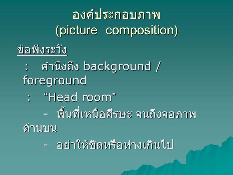 องค์ประกอบภาพ (picture composition)