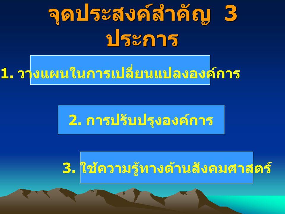 จุดประสงค์สำคัญ 3 ประการ