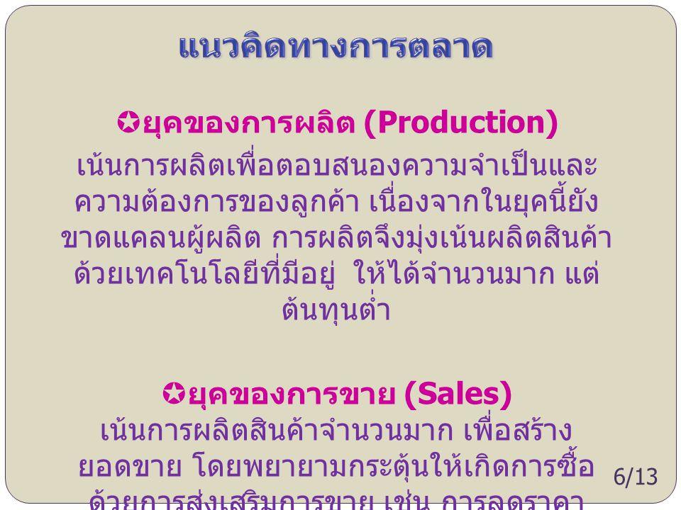 ยุคของการผลิต (Production)