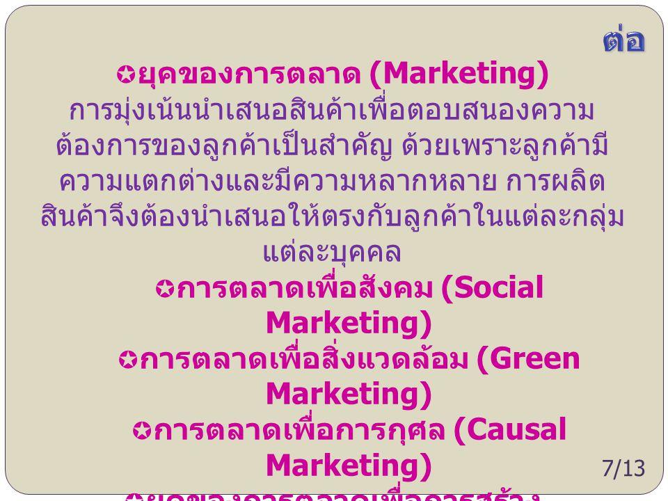 ต่อ ยุคของการตลาด (Marketing)