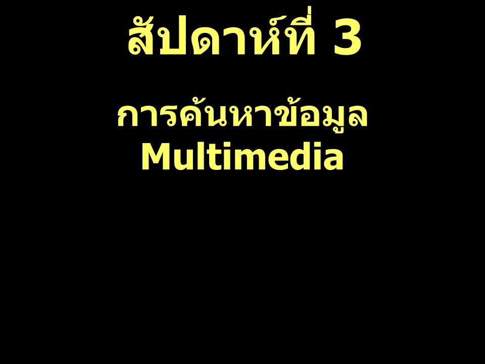 การค้นหาข้อมูล Multimedia