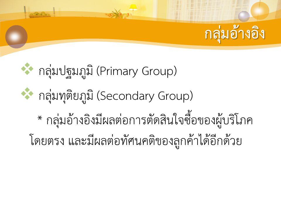 กลุ่มอ้างอิง กลุ่มปฐมภูมิ (Primary Group)