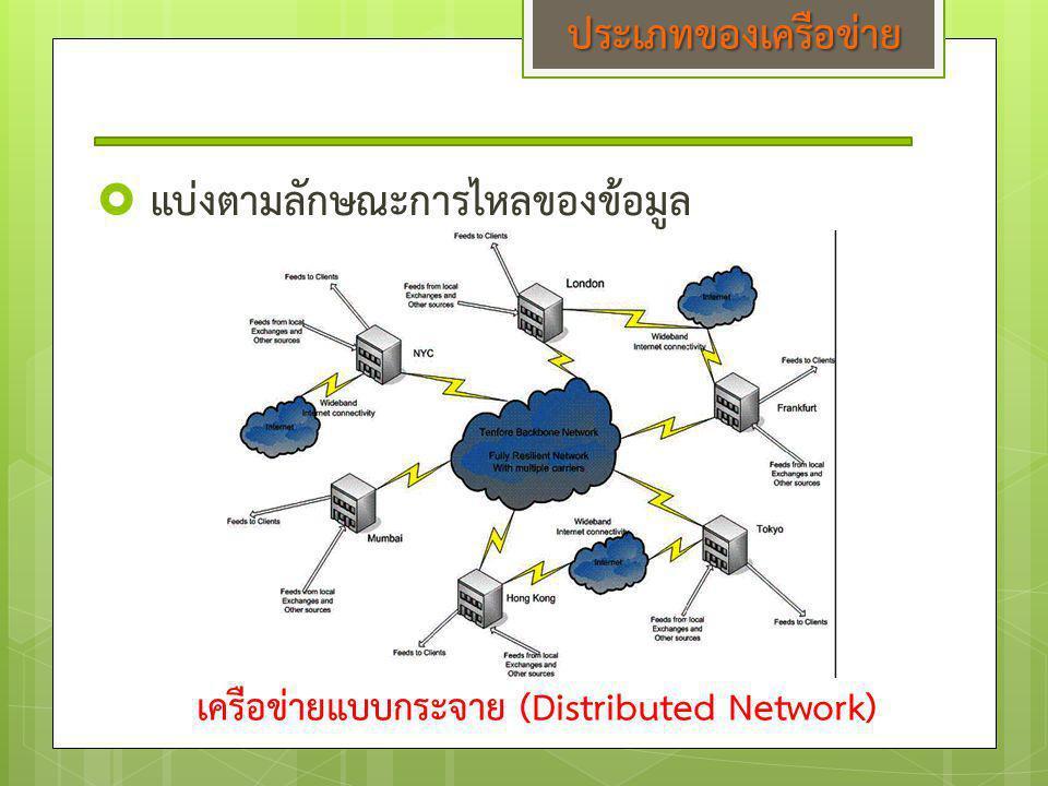 เครือข่ายแบบกระจาย (Distributed Network)