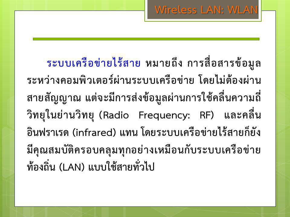 Wireless LAN: WLAN