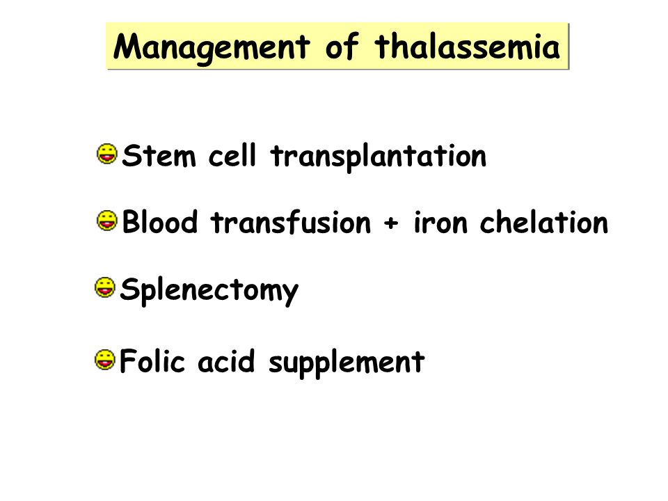 Management of thalassemia
