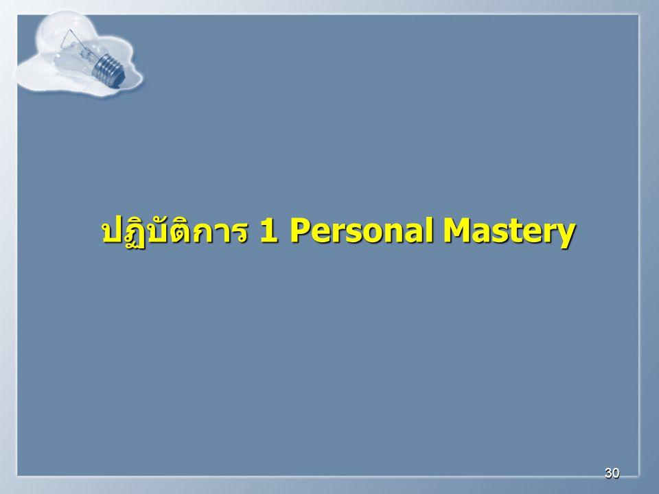 ปฏิบัติการ 1 Personal Mastery