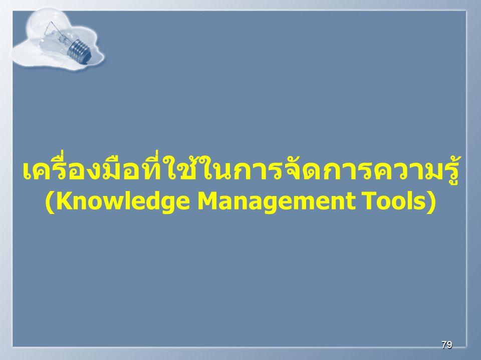 เครื่องมือที่ใช้ในการจัดการความรู้ (Knowledge Management Tools)