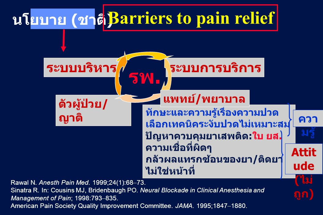 Barriers to pain relief
